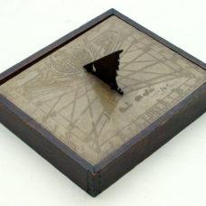 SOLNHOFER STONE SUNDIAL WITH DATE HIDDEN IN A CHRONOGRAM