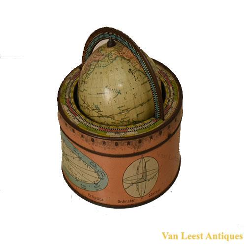 Van Balen Terrestrial Globe with ecliptica.