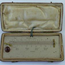 William Collins Minimum Night Alcohol Thermometer Leather Cased Antique