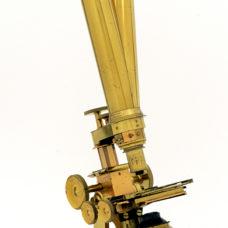c.19th amazing binocular Wenham Ross brass microscope
