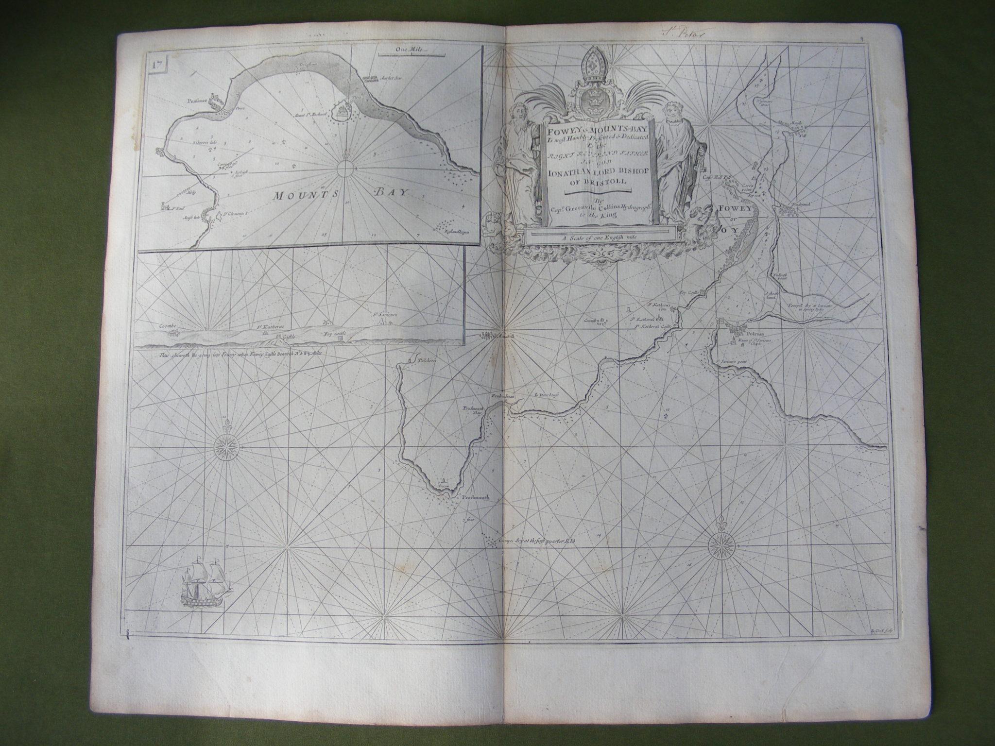 GENUINE ANTIQUE SEA CHART