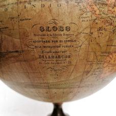 RARE 1874  DELAMARCHE  TERRESTRIAL GLOBE   FOR SPANISH MARKET