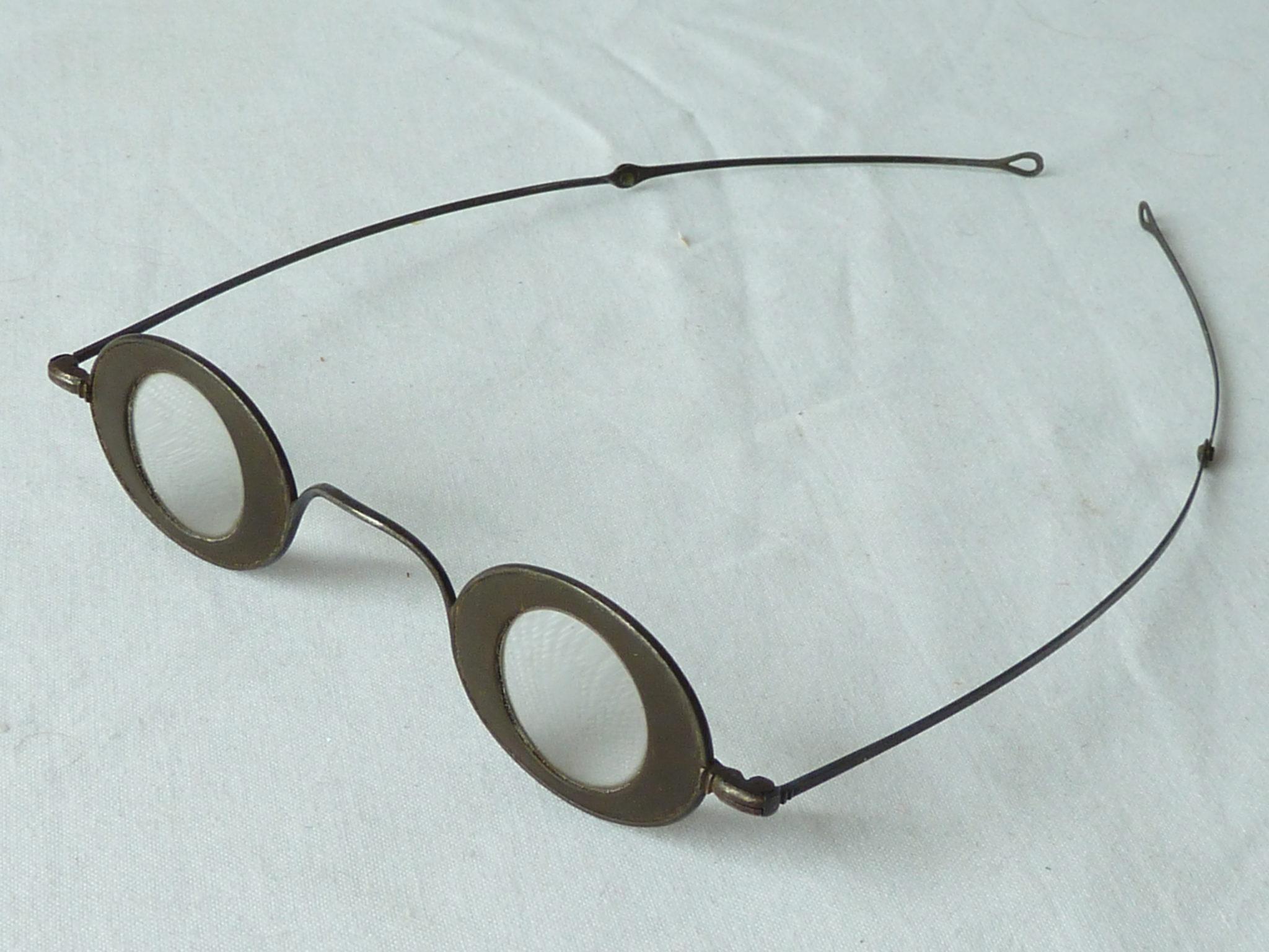 Martin's Margins Spectacles Oval Horn Blued Steel Antique