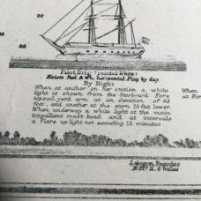 An antique sea chart of Rangoon River, Burma printed 1885
