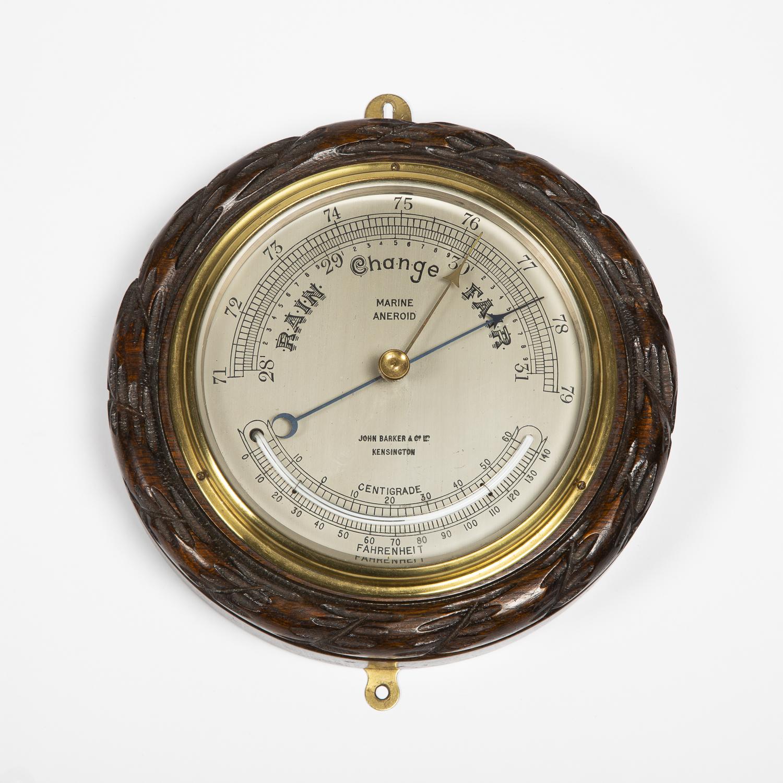 Marine aneriod barometer by Barker & Co of Kensington