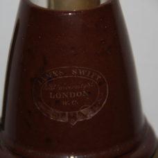 ~FINE AND RARE SWIFT MICROSCOPE LAMP-BROWN SHADE c.1880~