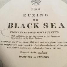 The Black Sea, 1919 edition British Admiralty sea chart