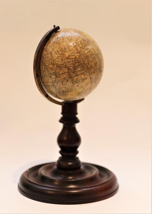 A small Dutch terrestrial globe by Klinger, circa 1860