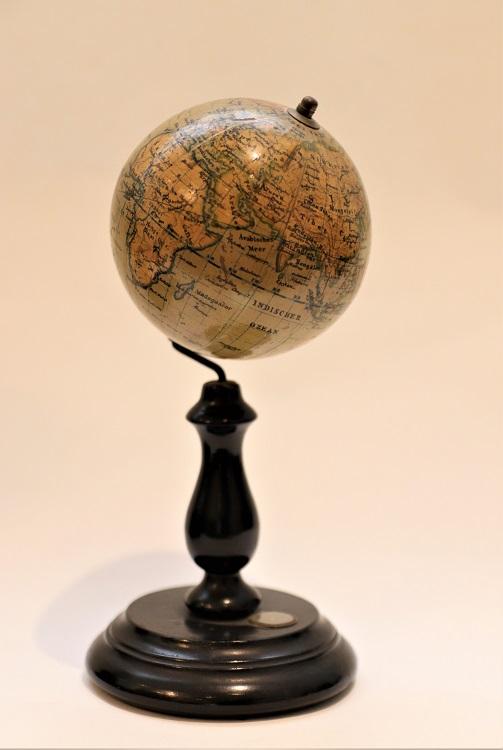 A fine German terrestrial globe by Felkl & Sohn with compass, circa 1890