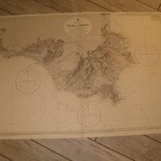 SICILY, PALMA to CATANIA BRITISH ADMIRALTY SEA CHART, 1893 EDITION