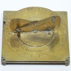 A double plate brass sundial signed Liborel à Arras.
