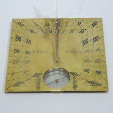 Large horizontal sundial in brass signed Nicolas Bion in Paris datable circa 1720