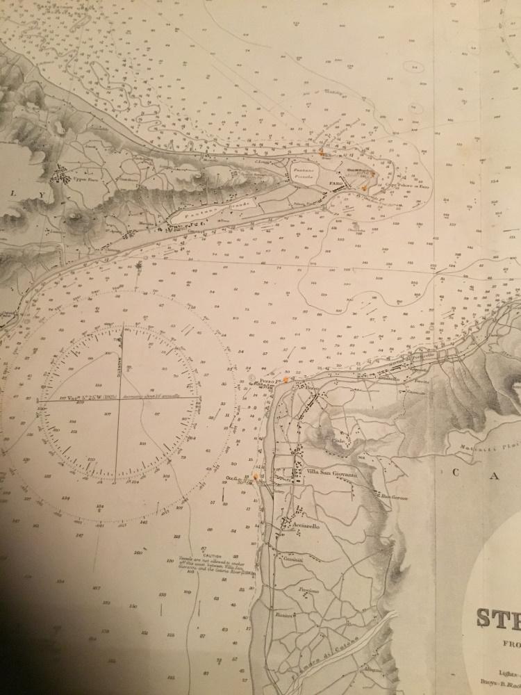 Messina Strait & Harbour, 1925 edition British Admiralty chart