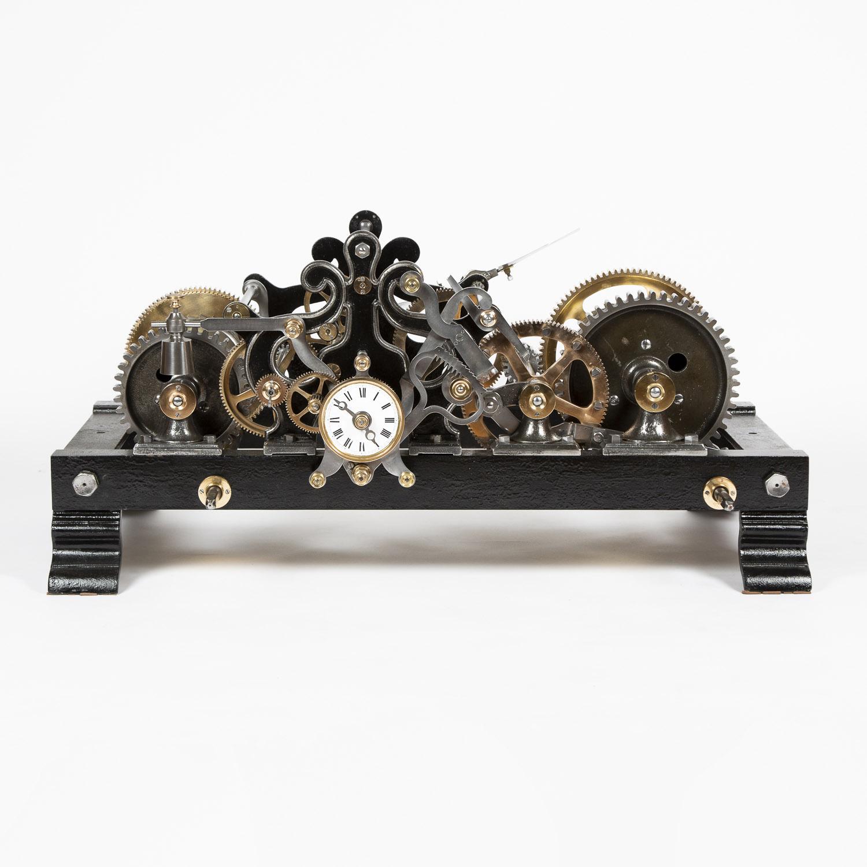 Turret clock by Lucien Terraillon of Morez, Jura. Dated 1910.