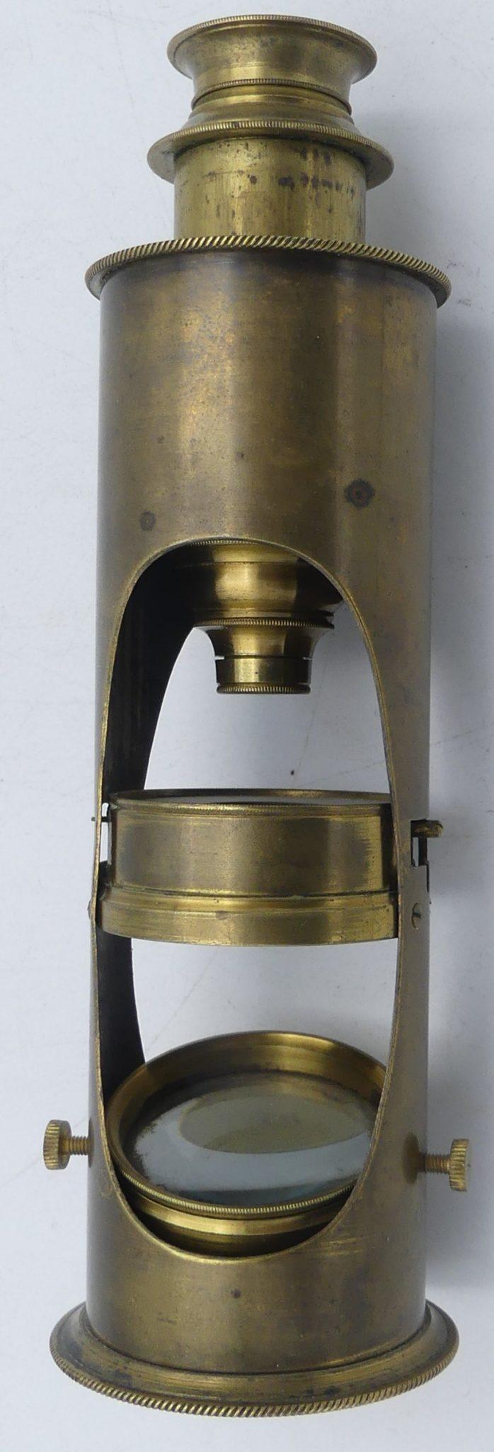 A rare Jecker drum microscope, circa 1810