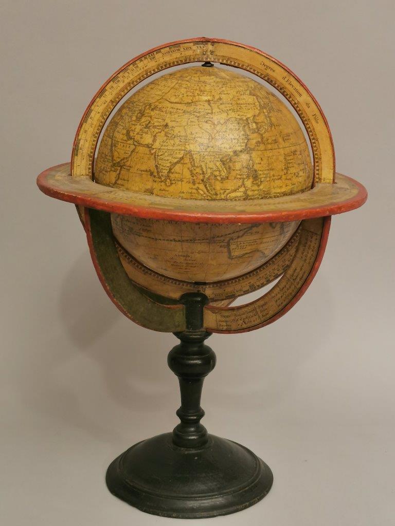 Beautiful terrestrial Globe, by Charles Francois Delamarche Paris 1808