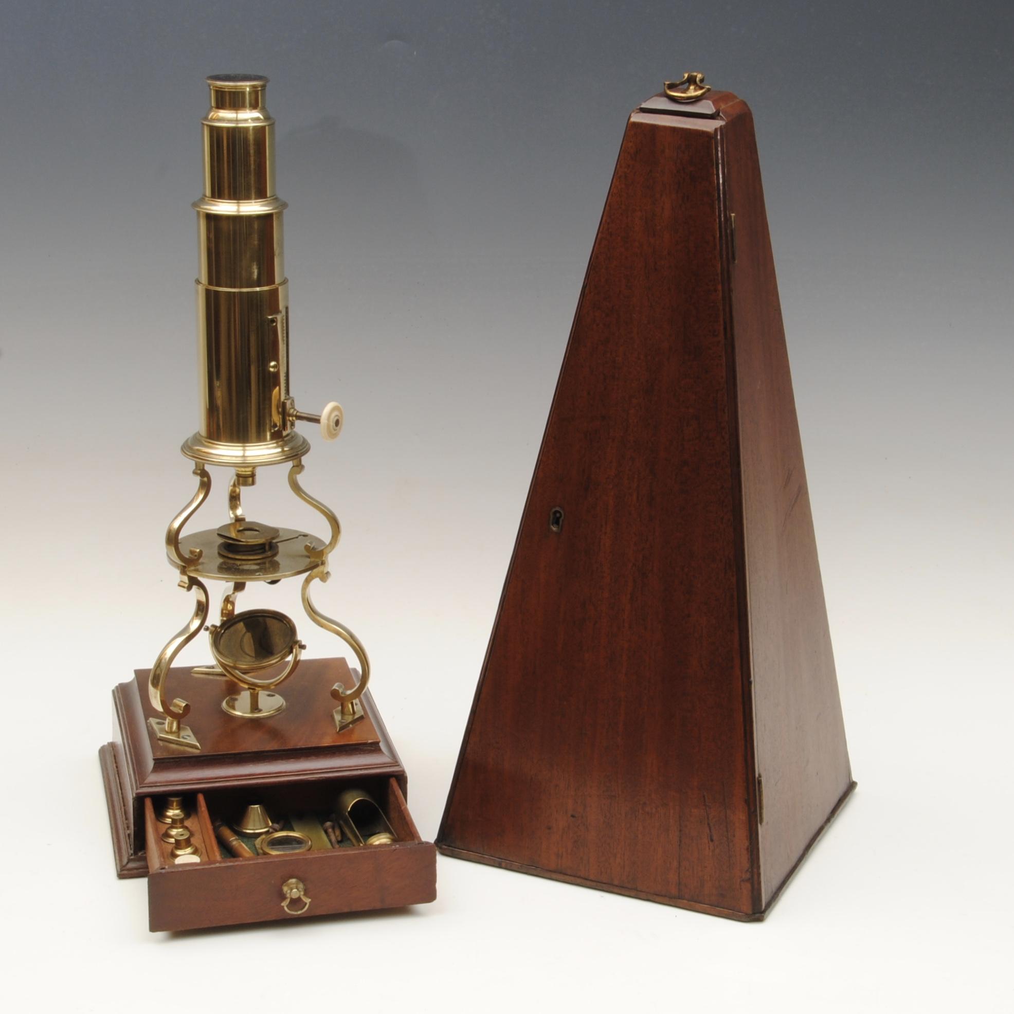 Culpepper type microscope by Abrahams of Bath