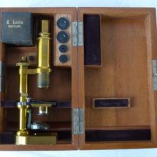 E Leitz Wetzlar circa 1893 III Microscope 28435 Boxed Kit Accessories German
