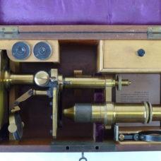 Nachet Et Fils Paris French Brass Microscope Boxed Accessories