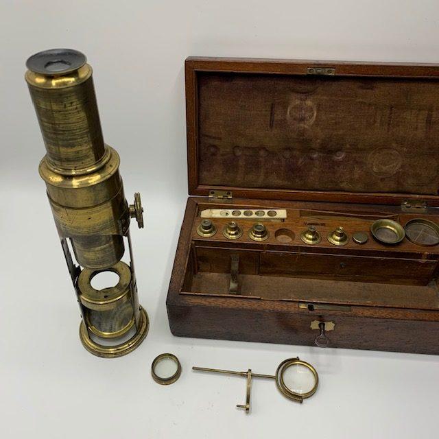 A drum microscope in its original case