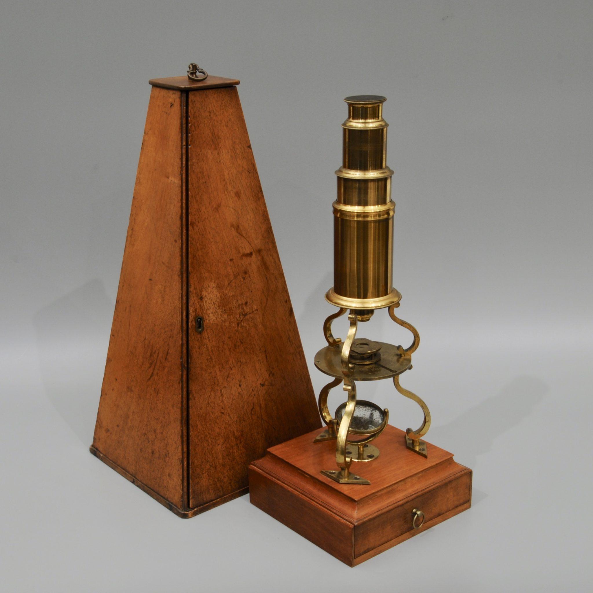A very original Culpeper microscope by William Harris, London