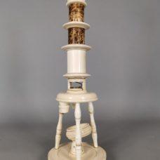 German nuremberg ivory microscope xviii th