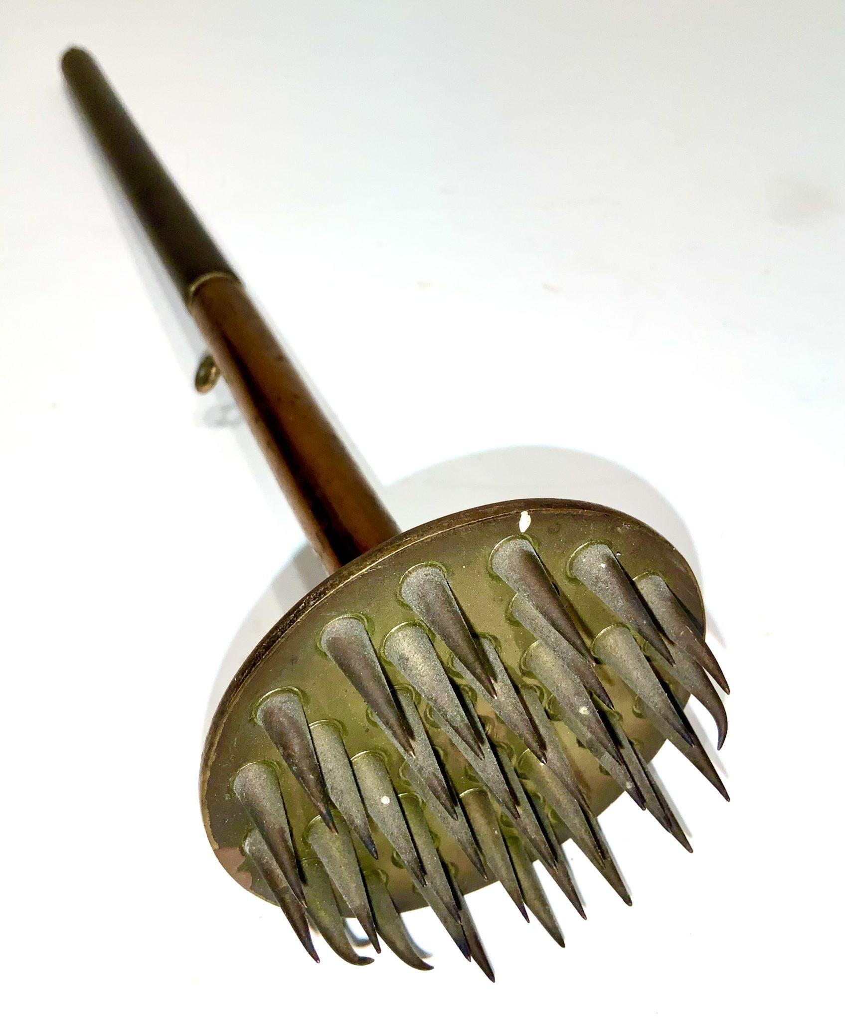 Electro Medicinal Handheld Electrode Device – Circa 1870 – Brass and Wood