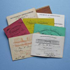 Set of Nine University of  Pennsylvania  1830s Medical Admission Tickets