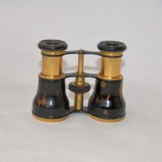 Gold plated, tortoise shell binoculars – F. Fritsch, Wien.