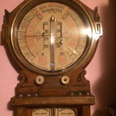 Oak Royal  Polytechnic Fitzroy Barometer by Jos. Davis London