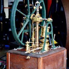 Circa 1865 Frank K. James & Co. Engineers London Vertical OscillatingCylinder Sail Stitchers Steam Engine