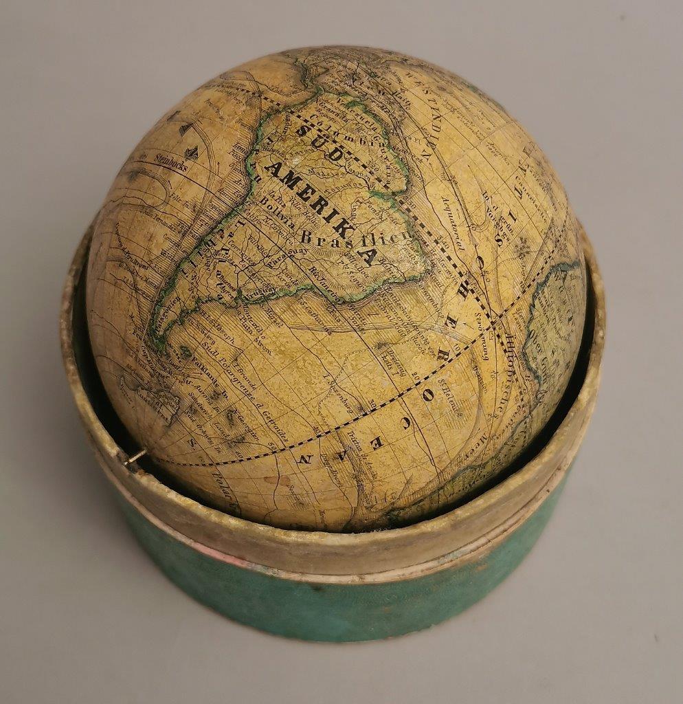 A 19th century German terrestrial pocket globe marked