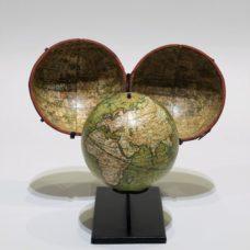 Terrestrial pocket globe signed Newton Son & Berry datable circa 1820/1830