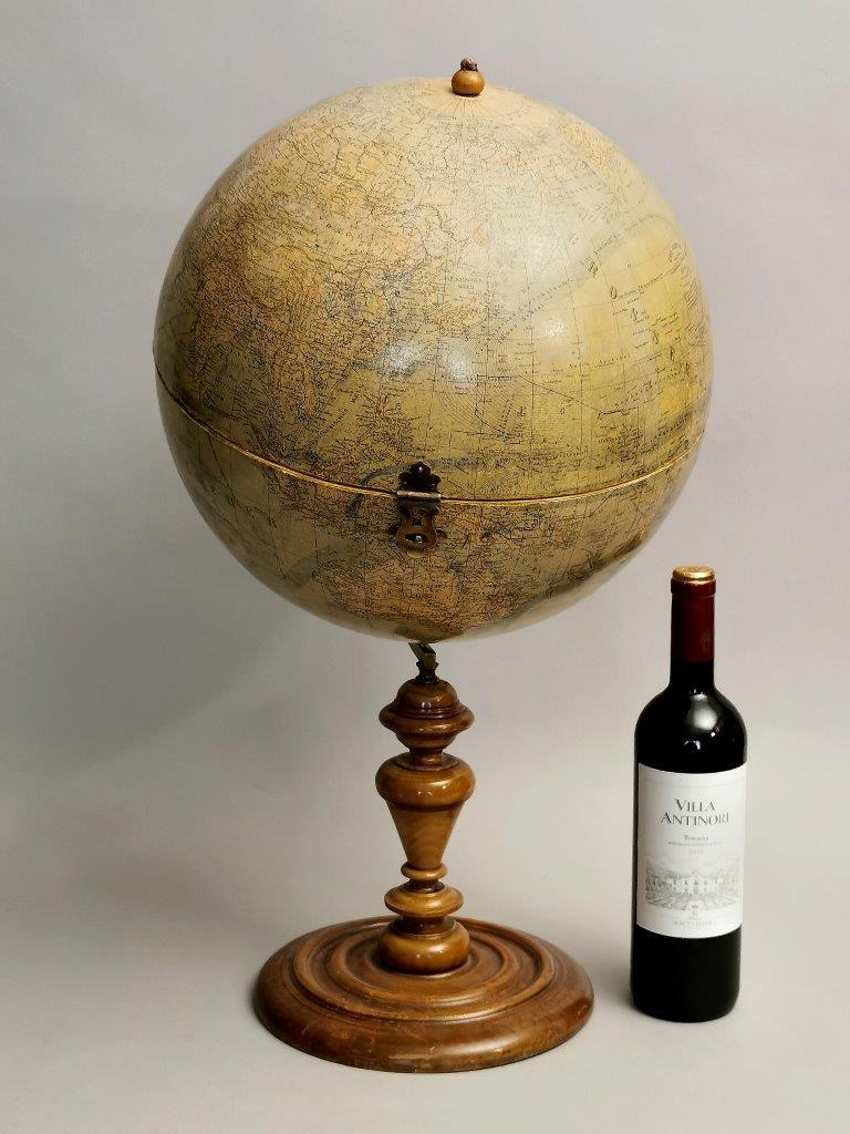 "A really interesting one-of-a-kind antique German globe,   ""L.J. Heymann – Berlin"" globe, ca. 1900.s."