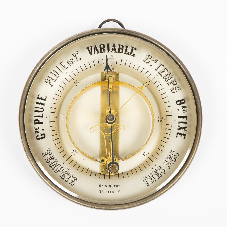 10 inch Bourbon type barometer by Jules Richard.