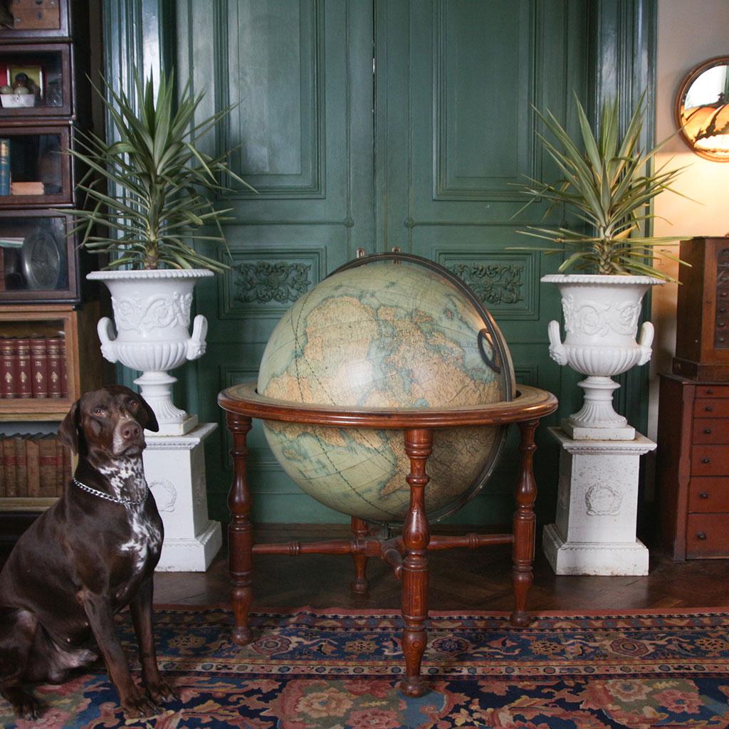 W.& A.K. Johnston Ltd. 1890 Terrestrial Globe 30-inch
