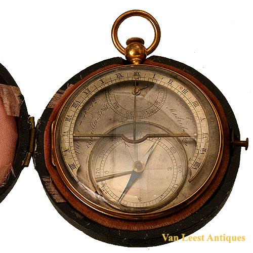 French equatorial pocket sundial. C 1830