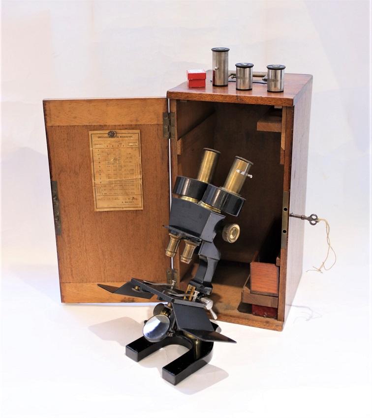 The rare Nachet's dissecting binocular stereoscopic microscope – 1919