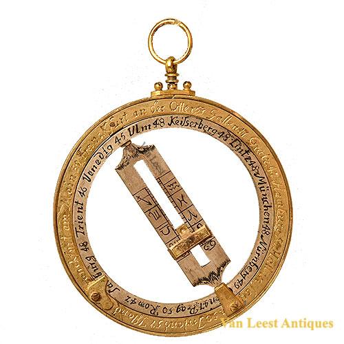 Brass universal sundial German Johann Somer