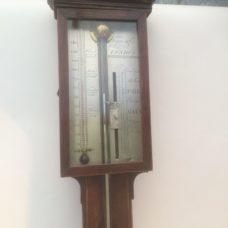 Georgian  Mohogany Stick Barometer signed Torre & Co London