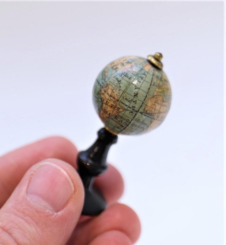 A Scarce Miniature 1inch Diameter Terrestrial Globe attributable to Schotte – C. 1880