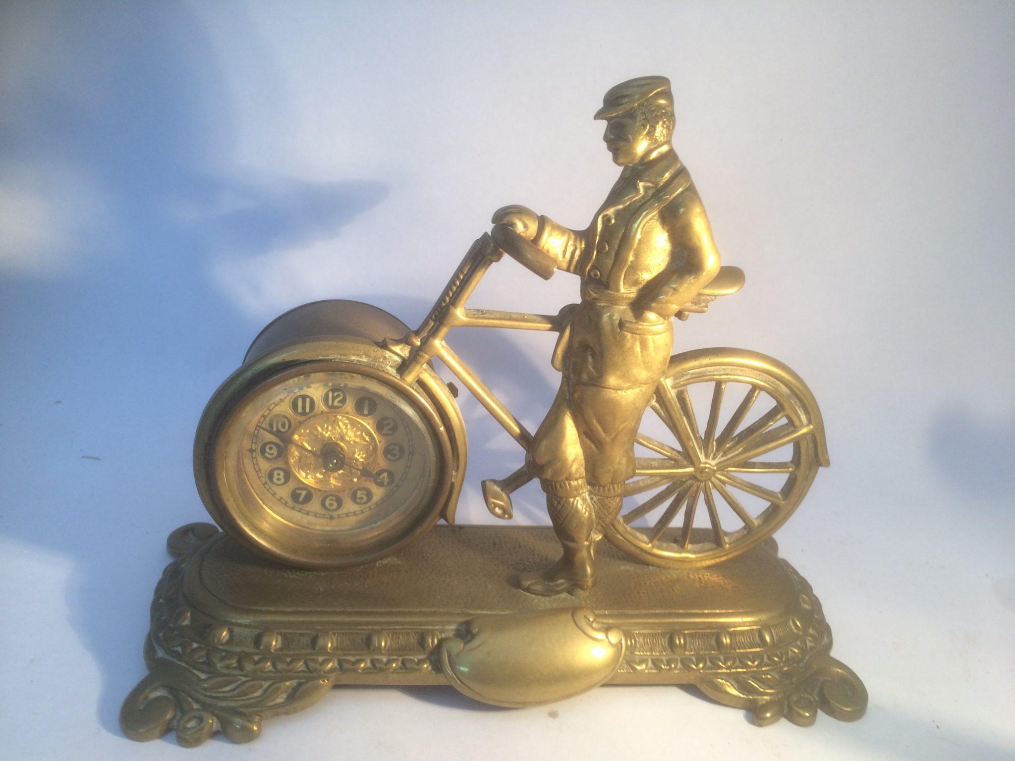 Brass Bicycle Clock