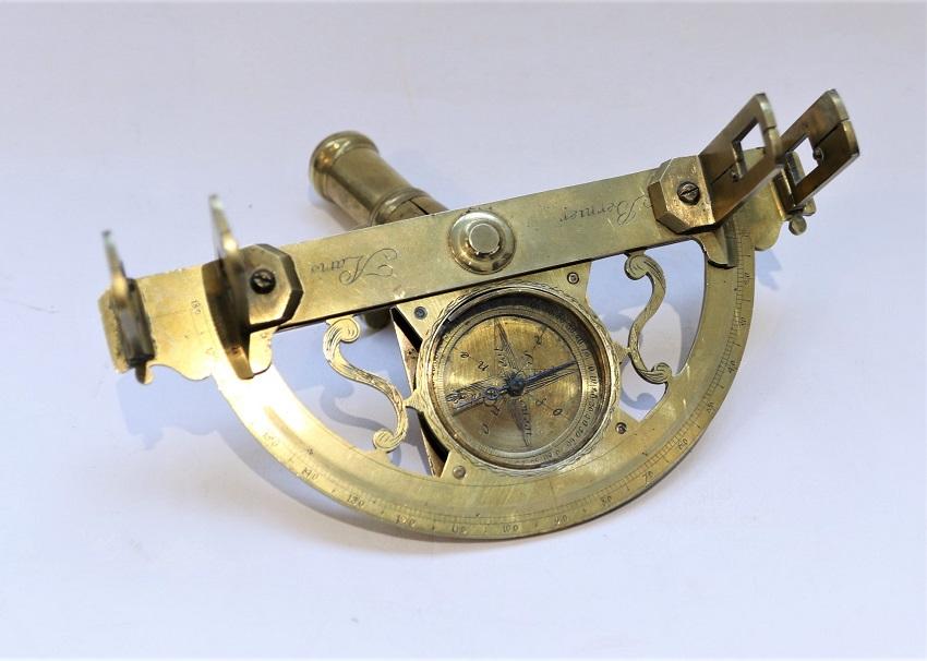 A fine small French graphometer by Bernier, circa 1750-1770