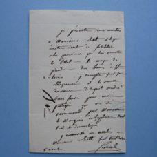 1830s Autographed letter: Dr. Civiale, Marquis de Laplace and Dr. Biett