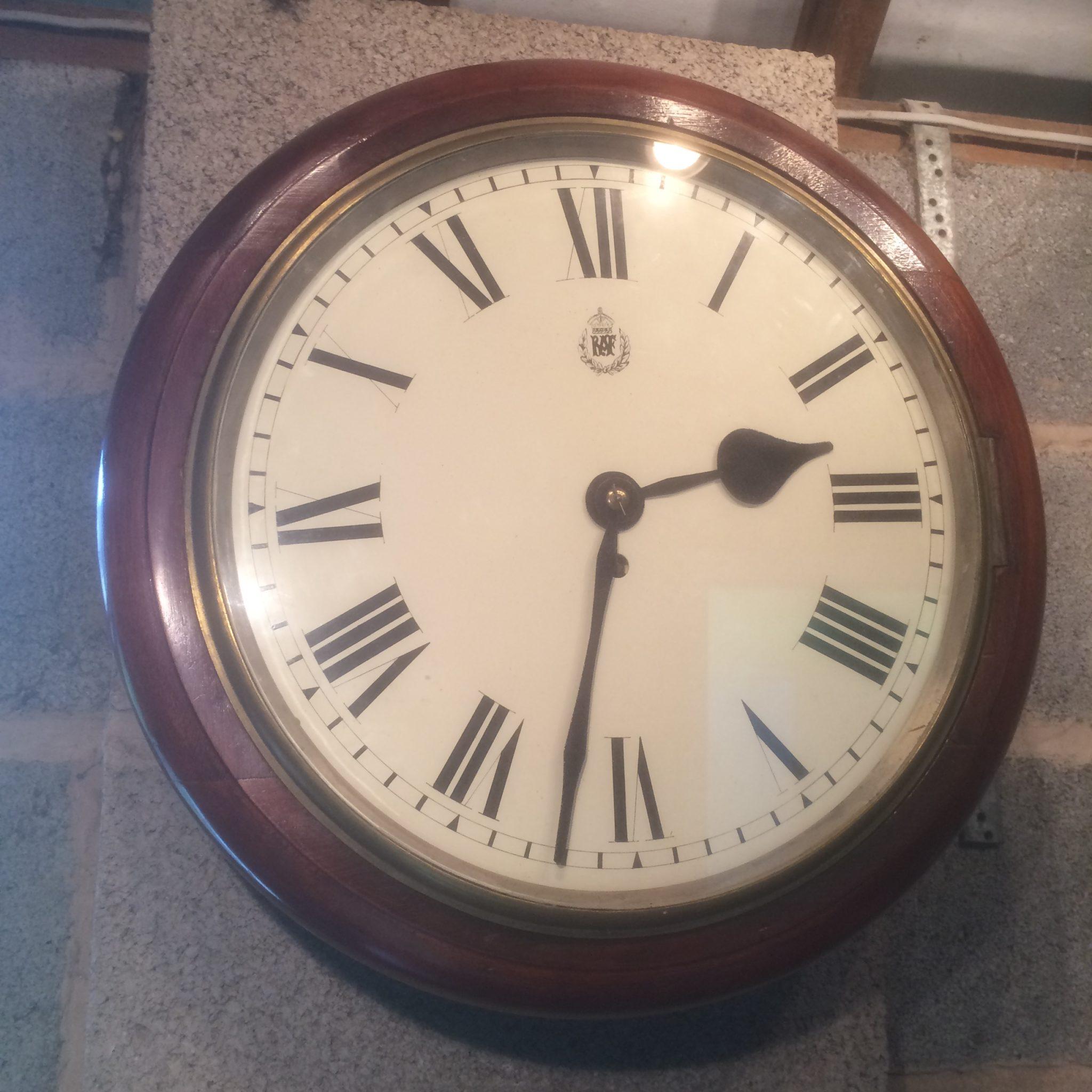 RAF Mahogany Fusee  Wall Clock 14