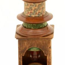 c.19th Nuremberg wood microscope