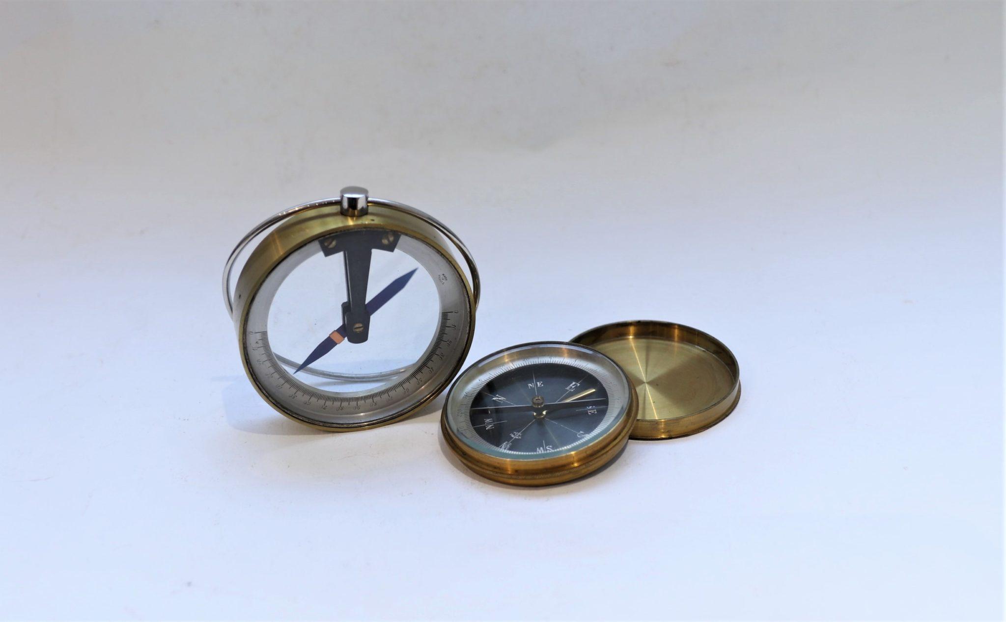 French portable dip circle, plus portable compass for UK market, circa 1880