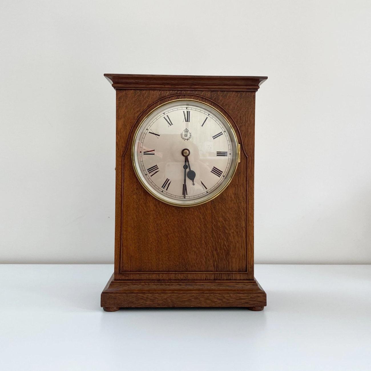 World War 2 RAF Officers Mess Mantle clock by FW Elliott & Sons