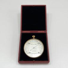 Rare Leather Cased Forecasting Aneroid Barometer by Negretti & Zambra London