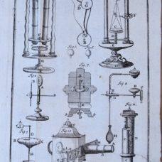 First description of Newton catadioptric microscope and Cherubin binocular microscope by Doppelmayr – 1717